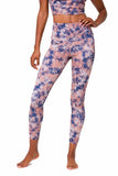 Onzie High Rise Earth Tie Dye Large Midi Leggings