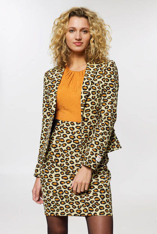 OppoSuits Ladies Size 10 Lady Jag includes Long Sleeve Jacket & Skirt