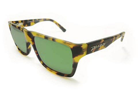 Peppers Polarized Sunglasses Kahuna Tokyo Tortoise with Green Mirror Lens