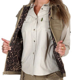 Tag Safari Women's Khaki Safari Vest Size Large with Covered Oversized Pockets