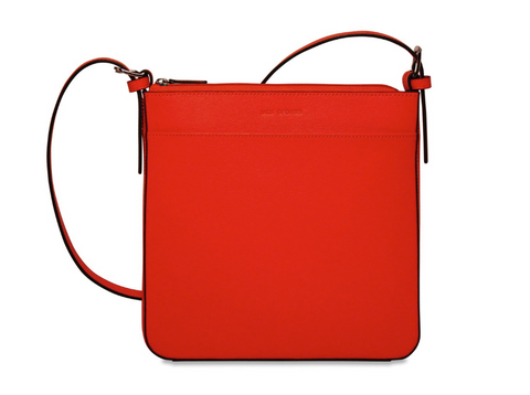 Jack Georges Chelsea Silka Crossbody Bag Red