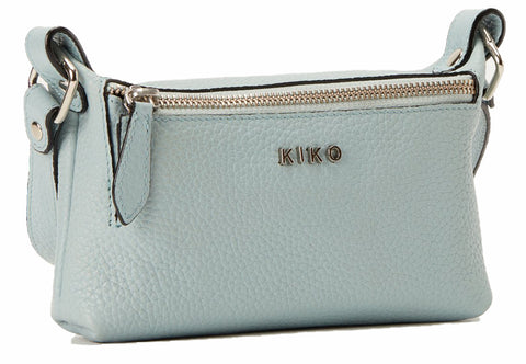 Kiko Leather Women's Simple Crossbody Aqua Genuine Leather Bag
