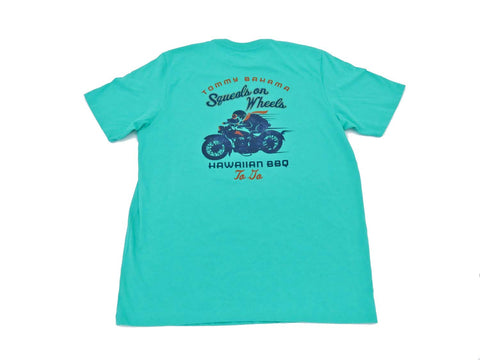 Tommy Bahama Squeals on Wheels Medium Green T Shirt