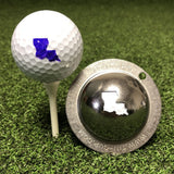 Tin Cup Louisiana State Golf Ball Custom Marker Alignment Tool