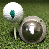 Tin Cup Illinois State Golf Ball Custom Marker Alignment Tool