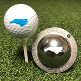 Tin Cup North Carolina State Golf Ball Custom Marker Alignment Tool