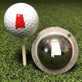 Tin Cup Alabama State Golf Ball Custom Marker Alignment Tool