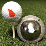 Tin Cup Georgia State Golf Ball Custom Marker Alignment Tool