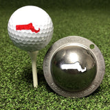 Tin Cup Massachusetts State Golf Ball Custom Marker Alignment Tool