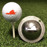 Tin Cup Virginia State Golf Ball Custom Marker Alignment Tool