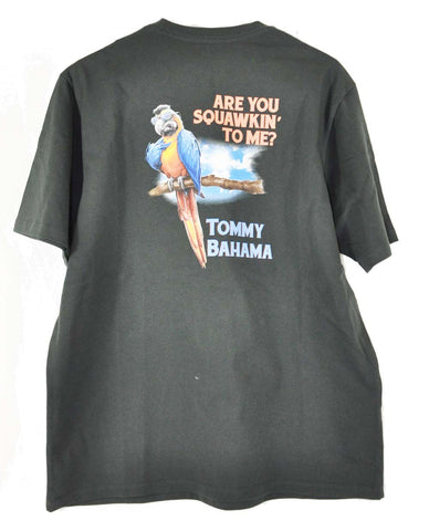 Tommy Bahama Are You Squawkin To Me X-Small Coal T Shirt