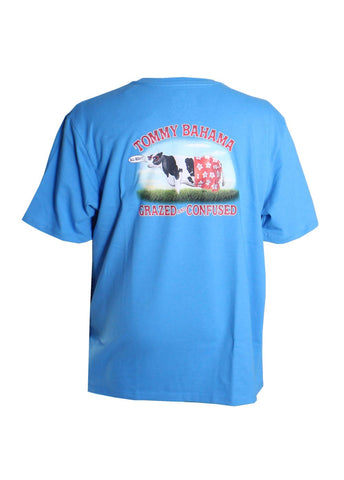 Tommy Bahama Grazed And Confused Small Download Blue T Shirt