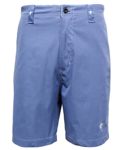 White Water Slate Blue Size 38 Lightweight Cotton Stretch Starboard Shorts