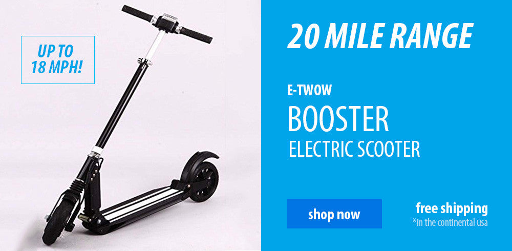 Electric stand up scooter 18 mph