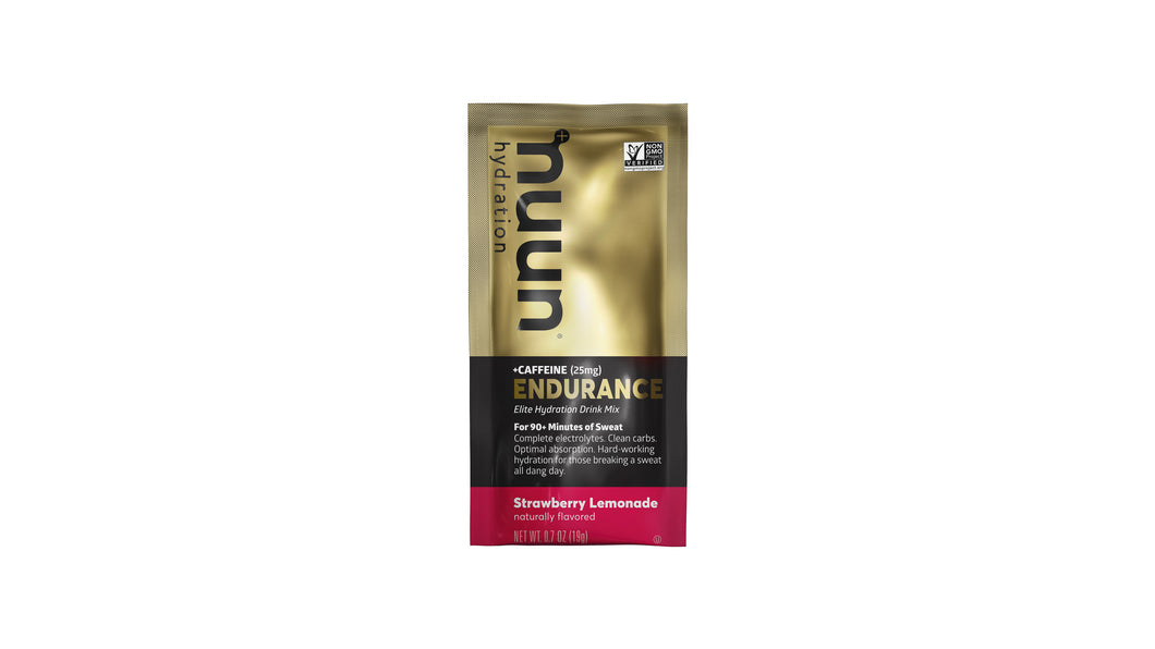 Nuun Endurance: Strawberry Lemonade + Caffeine Sachet [OUT OF STOCK]