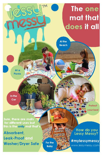 All Purpose Mat 60X60 - Kids' Print