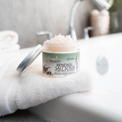 Renewal Salt Scrub Face & Body Exfoliant