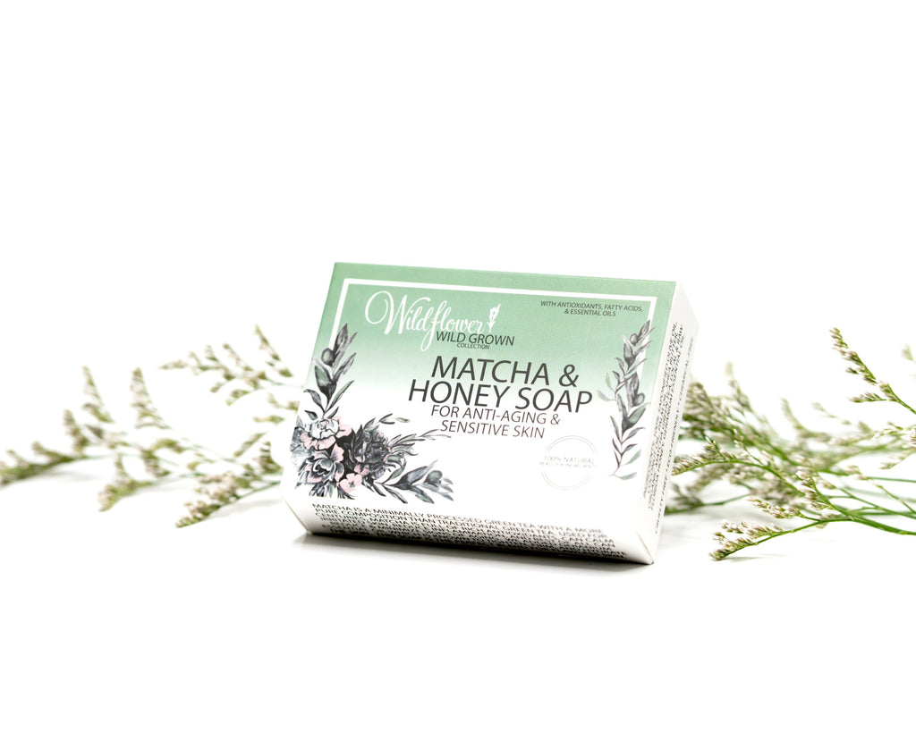 Matcha & Honey Soap for Anti-aging and Sensitive Skin