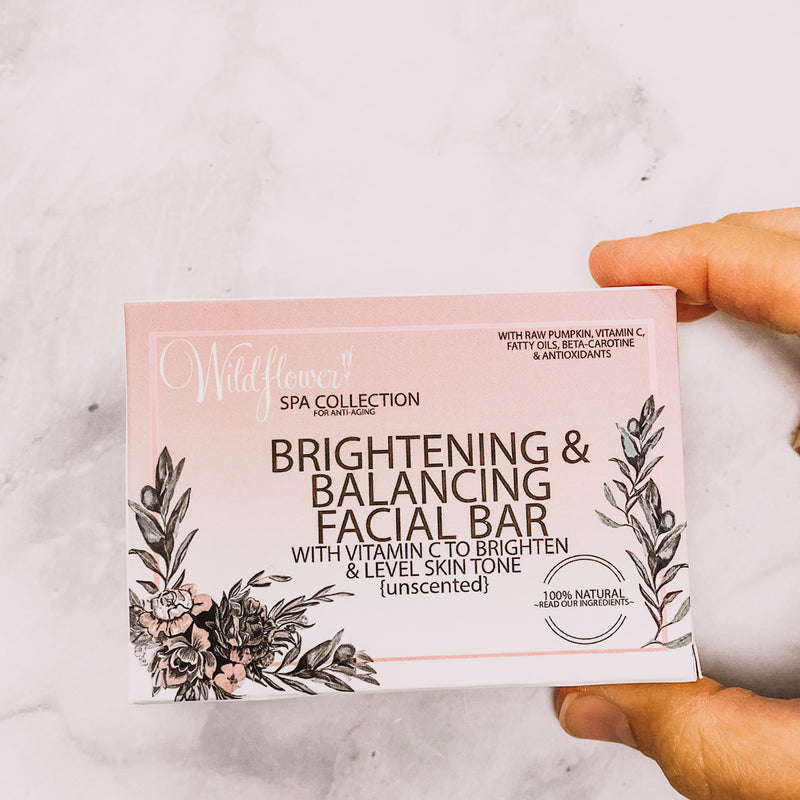 Brightening & Balancing Face Soap with Pumpkin - unscented bar soap