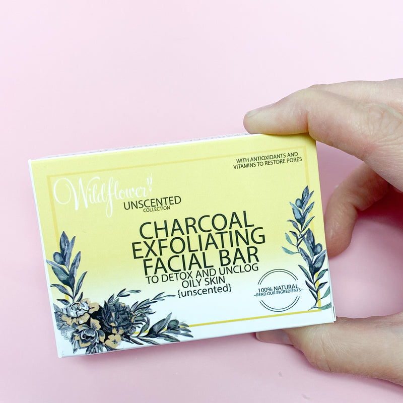 Charcoal Face Exfoliating Bar Soap