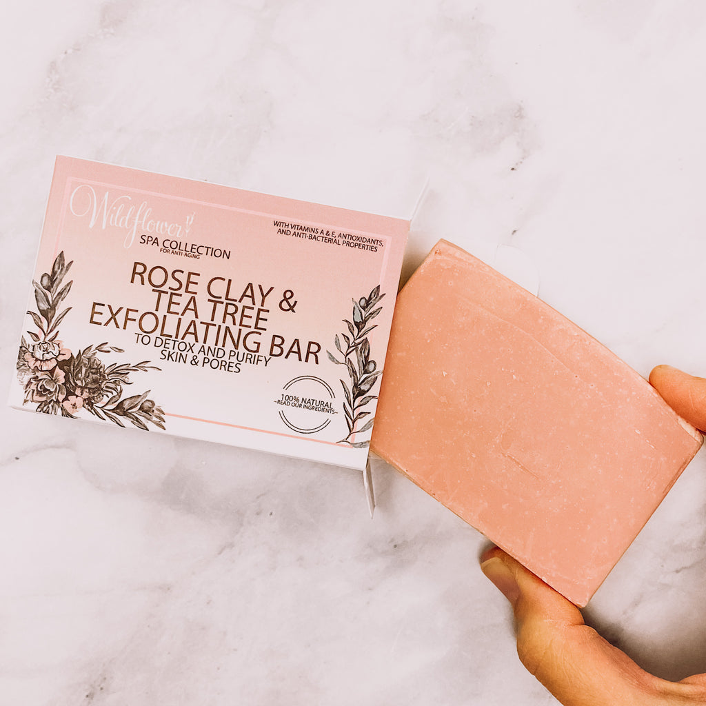 Rose Clay and Tea Tree Exfoliating Bar