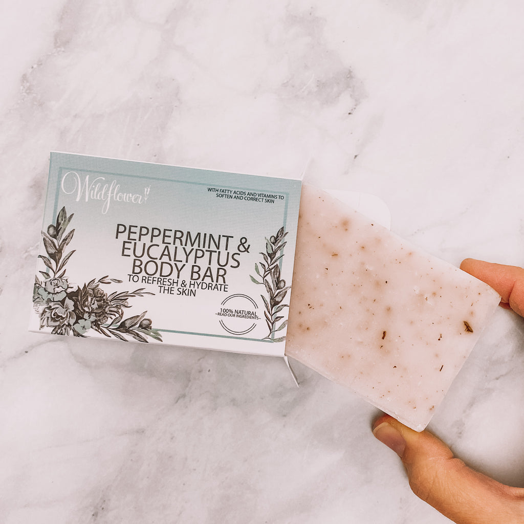 Peppermint & Eucalyptus with Shea Butter - Natural Bar Soap