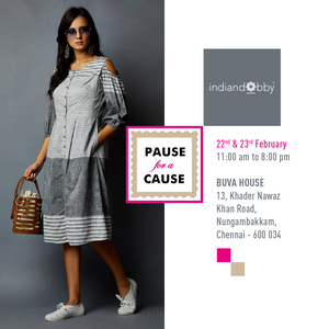 Hello Chennai! Meet us at Pause for a Cause, Buva House on 22nd/23rd Feb 2019