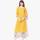 Side Placket Big Button Mangalgiri Dobby Kurta - Indian Dobby