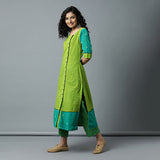 Square Neck Buta Sleeve & Border Side Placket Kurta