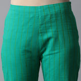 Back elasticated Straight Pants - Stripes