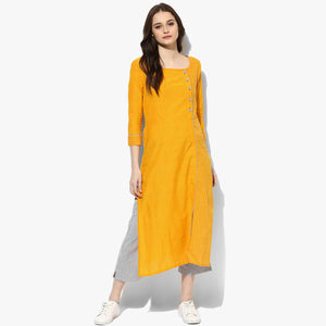 Square Neck Mangalgiri Dobby Kurta - Indian Dobby
