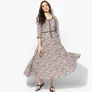 1b4bfc0fe29 Kalidar Cotton Floral Print Maxi Dress – Indian Dobby