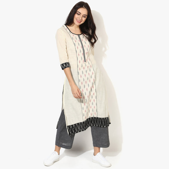 Centre Panel Ikat Kurta