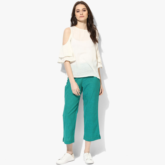 Straight Mangalgiri Cotton Pants - Indian Dobby
