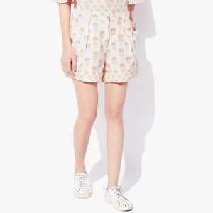 Handblock Print Cotton Flex Shorts