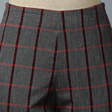 Back elasticated Straight Pants - Big Checks