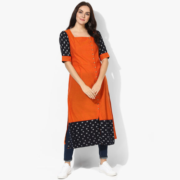 Big Button Ikat Kurta