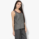 Racerback Ikat Top - Indian Dobby
