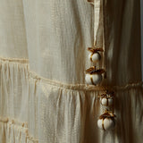 Lurex Tiered Palazzo with handmade tassels