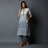 Corporate Striper Kurta wz Pockets