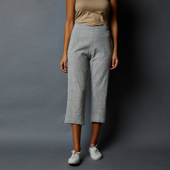 Striper Straight Cotton Pants