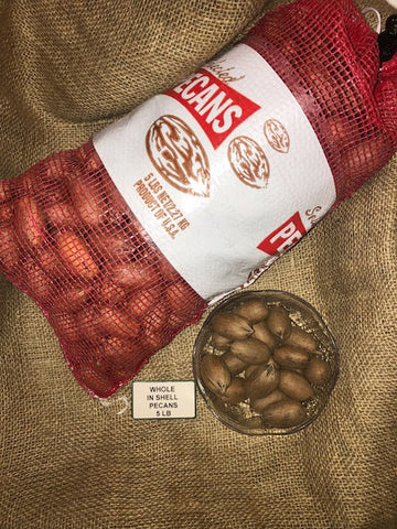 FRESH IN SHELL PECANS - 5 POUNDS