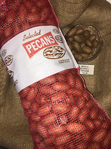FRESH IN SHELL PECANS - 10 POUNDS