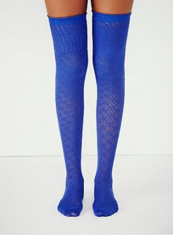 Free People Noble Pointelle Thigh High Sock