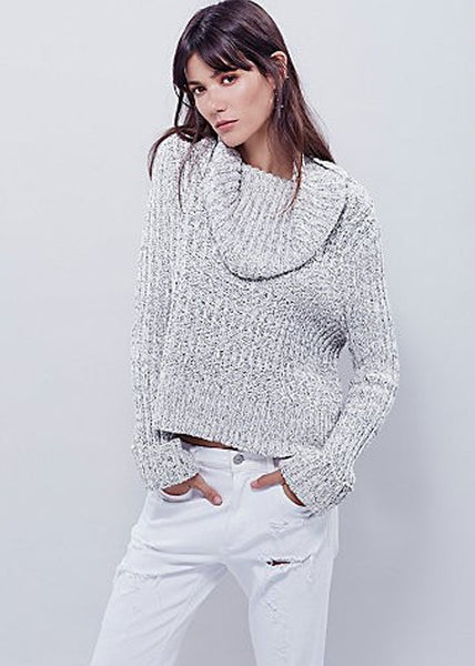 Free People Twisted Cable Knit Turtleneck