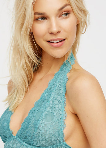 Free People Intimately Galloon Lace Halter Bra