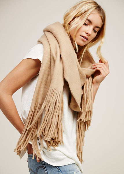 Free People Kolby Brushed Fringed Scarf