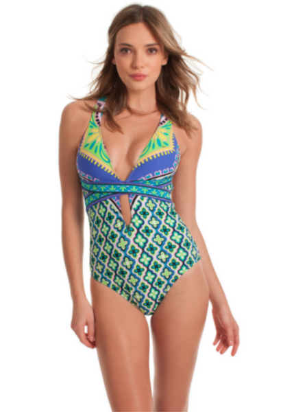 Trina Turk Shangri La Cross Back One Piece