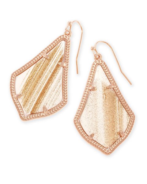 Kendra Scott Alex Earrings Gold Dusted Glass