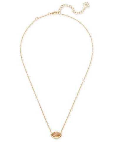 Kendra Scott Mikka Necklace Crackle Brown Pearl